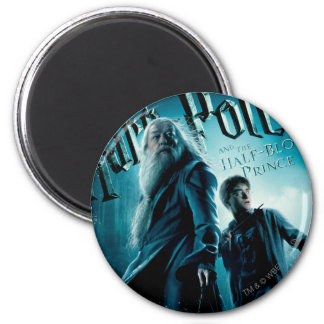 Harry Potter and Dumbledore on rocks 1 Refrigerator Magnets