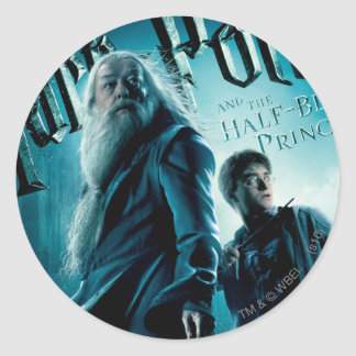 Harry Potter and Dumbledore on rocks 1 Stickers