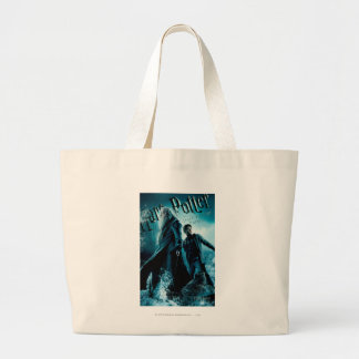 Harry Potter and Dumbledore on rocks 1 Tote Bags