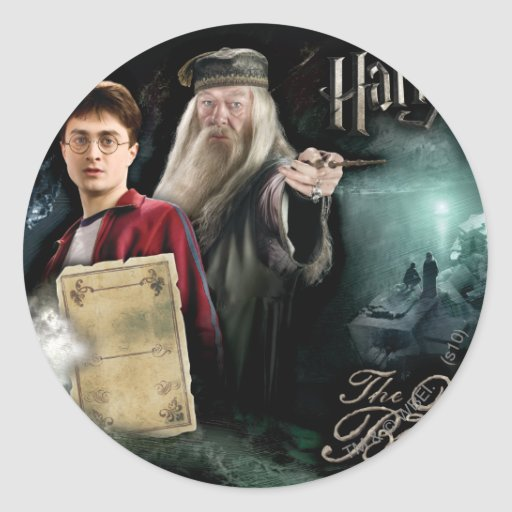 Harry Potter and Dumbledore Sticker