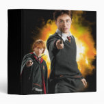 Harry Potter and Ron Weasely 3 Ring Binders