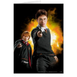 Harry Potter and Ron Weasely Greeting Cards