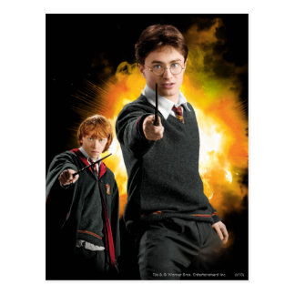 Harry Potter and Ron Weasely Post Card