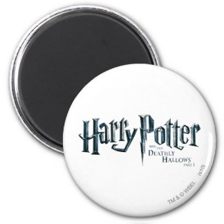 Harry Potter and the Deathly Hallows Logo 1 2 2 Inch Round Magnet