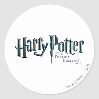 Harry Potter and the Deathly Hallows Logo 1 2 Classic Round Sticker