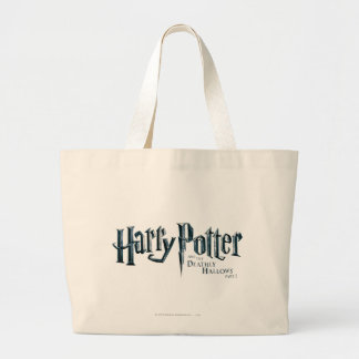 Harry Potter and the Deathly Hallows Logo 1 2 Large Tote Bag