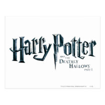 Harry Potter and the Deathly Hallows Logo 1 2 Postcard