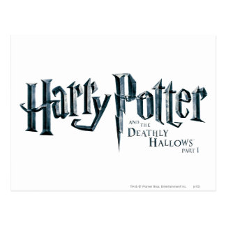 Harry Potter and the Deathly Hallows Logo 1 2 Post Cards