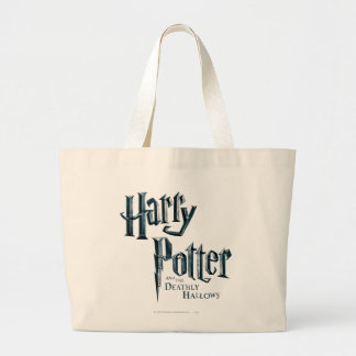 Harry Potter and the Deathly Hallows Logo 1 Jumbo Tote Bag