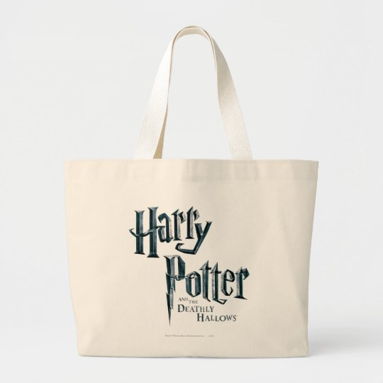 Harry Potter and the Deathly Hallows Logo 1 Large Tote Bag