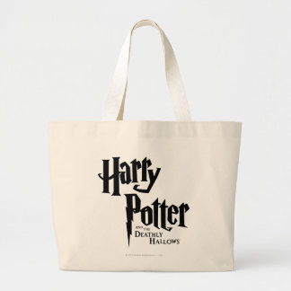 Harry Potter and the Deathly Hallows Logo 2 Jumbo Tote Bag