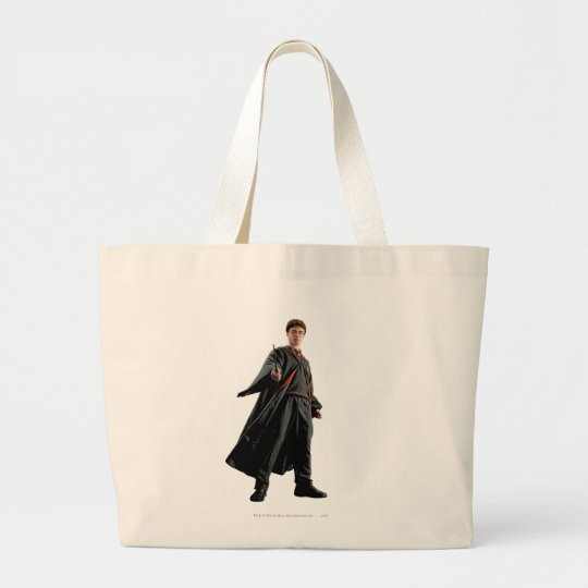 Harry Potter At The Ready Large Tote Bag