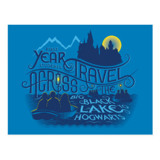 Harry Potter   Black Lake To Hogwarts Postcard