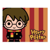 Harry Potter Cartoon Character Art Postcard