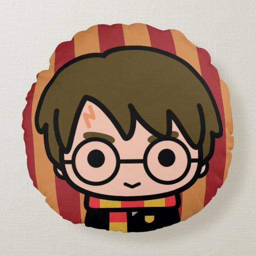 Harry Potter Cartoon Character Art Round Pillow Zazzle