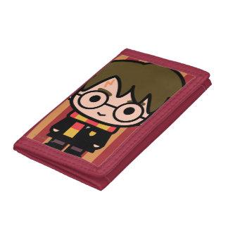 Harry Potter Cartoon Character Art Trifold Wallets