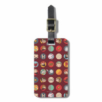 Harry Potter Cartoon Icons Pattern Luggage Tag