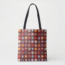Harry Potter Cartoon Icons Pattern Tote Bag
