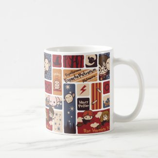 Harry Potter Cartoon Scenes Pattern Coffee Mug