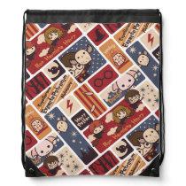 Harry Potter Cartoon Scenes Pattern Drawstring Bag