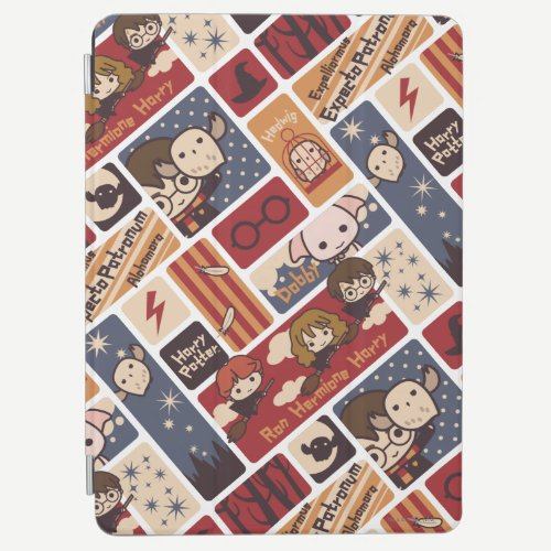 Harry Potter Cartoon Scenes Pattern iPad Air Cover