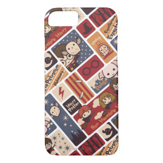 Harry Potter Cartoon Scenes Pattern iPhone 8/7 Case