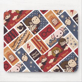 Harry Potter Cartoon Scenes Pattern Mouse Pad