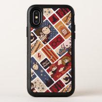 Harry Potter Cartoon Scenes Pattern OtterBox Symmetry iPhone X Case