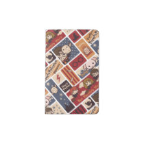 Harry Potter Cartoon Scenes Pattern Pocket Moleskine Notebook