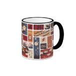 Harry Potter Cartoon Scenes Pattern Ringer Mug