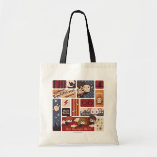 Harry Potter Cartoon Scenes Pattern Tote Bag