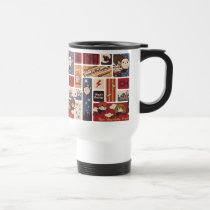 Harry Potter Cartoon Scenes Pattern Travel Mug