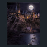 "Harry Potter Castle | Great Lake to Hogwarts Poster<br><div class=""desc"">This vintage art like print comes inspired by Hogwarts Castle for witchcraft and wizardry. This early scene from The Sorcerer&#39;s Stone shows Harry Potter&#39;s journey across the great lake on his first sight of Hogwarts School. The art style has a vintage feel with a painting look, capturing the age of...</div>"