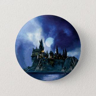 Harry Potter Castle   Hogwarts at Night Pinback Button