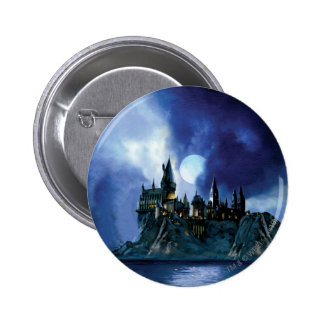 Harry Potter Castle | Hogwarts at Night Pinback Button