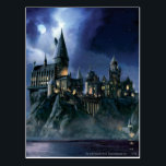 "Harry Potter Castle | Moonlit Hogwarts Postcard<br><div class=""desc"">Learn magic with Harry Potter and friends at Hogwarts School of Witchcraft and Wizardry! This castle done in a cool painting style is just the thing for kids and other Harry Potter fans! Retro art stylings that never go out of fashion. The night may look ominous but thankfully we have...</div>"
