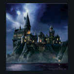 "Harry Potter Castle | Moonlit Hogwarts Poster<br><div class=""desc"">Learn magic with Harry Potter and friends at Hogwarts School of Witchcraft and Wizardry! This castle done in a cool painting style is just the thing for kids and other Harry Potter fans! Retro art stylings that never go out of fashion. The night may look ominous but thankfully we have...</div>"