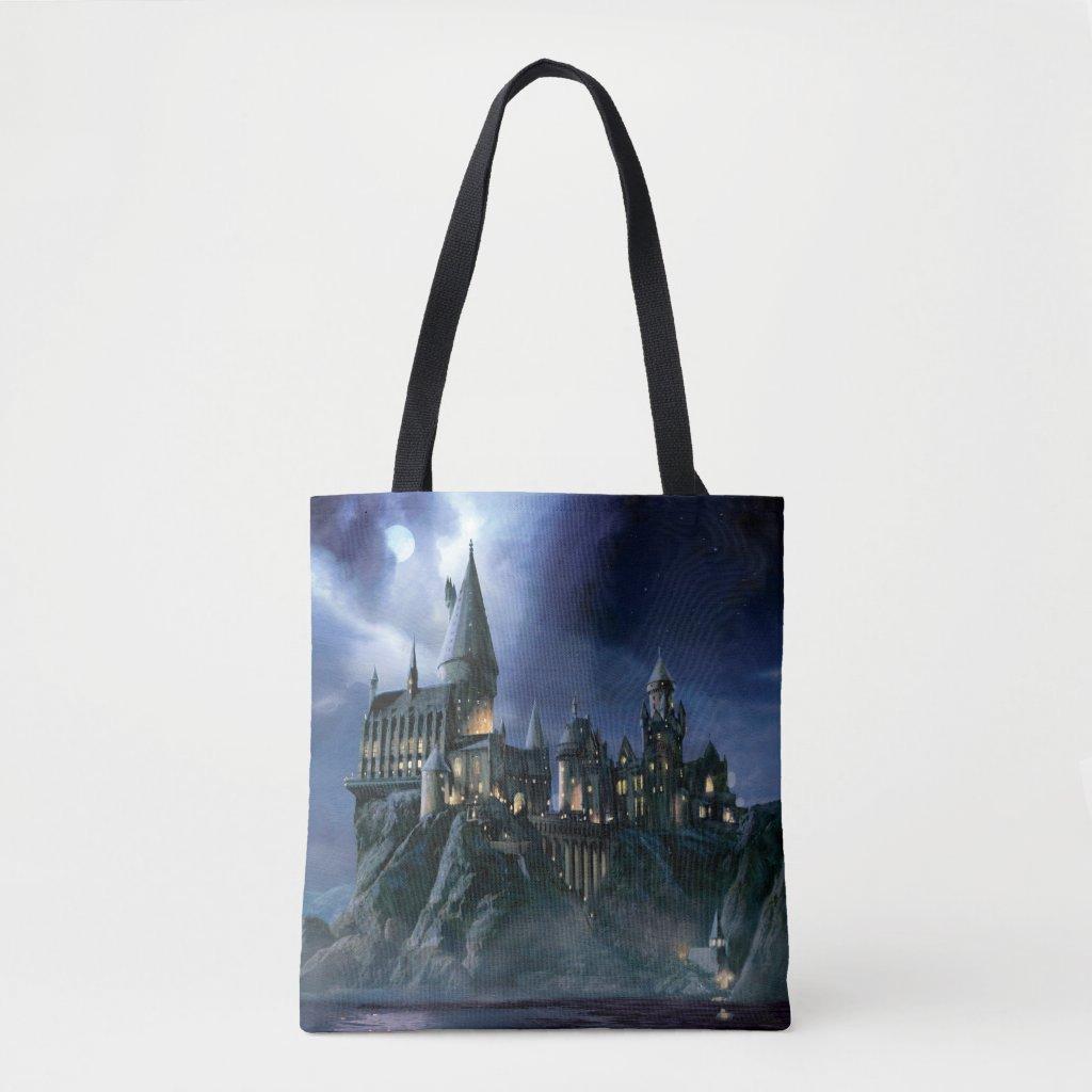 Harry Potter Castle | Moonlit Hogwarts Tote Bag