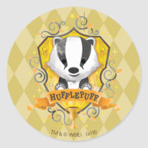 Harry Potter   Charming HUFFLEPUFF™ Crest Classic Round Sticker