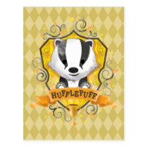 Harry Potter   Charming HUFFLEPUFF™ Crest Postcard