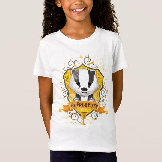 4ea881ec Harry Potter   Charming HUFFLEPUFF™ Crest T-Shirt   Zazzle.com