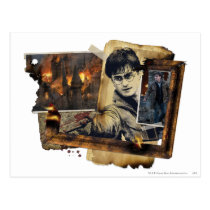 Harry Potter Collage 7 Postcard