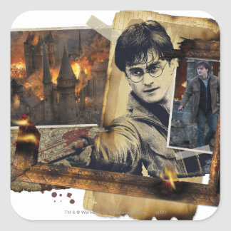 Harry Potter Collage 7 Square Stickers