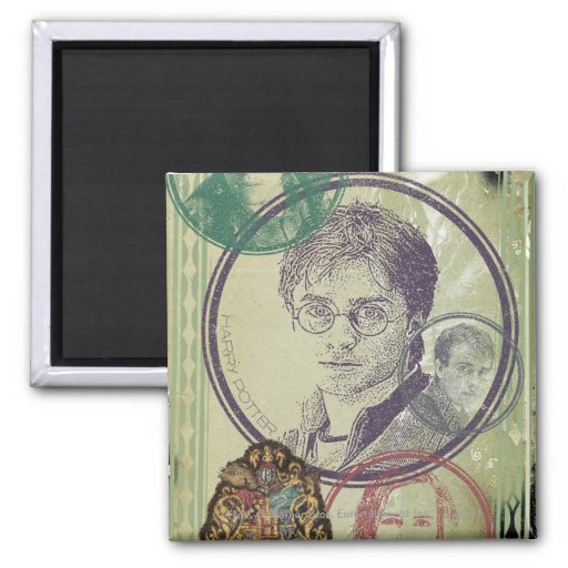 Harry Potter Collage 9 2 Inch Square Magnet