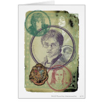 Harry Potter Collage 9 Card