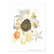 Harry Potter   Colorful Hogwarts Crest Postcard