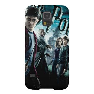 Harry Potter con Dumbledore Ron y Hermione 1 Fundas Para Galaxy S5