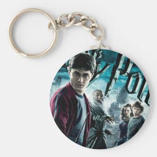 Harry Potter con Dumbledore Ron y Hermione 1 Llavero Redondo Tipo Pin