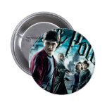 Harry Potter con Dumbledore Ron y Hermione 1 Pin Redondo 5 Cm