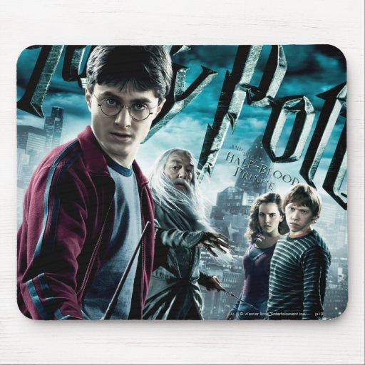 Harry Potter con Dumbledore Ron y Hermione 1 Tapete De Ratón